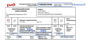 俄羅斯電子火車票