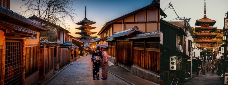 京都景點二年坂法觀寺